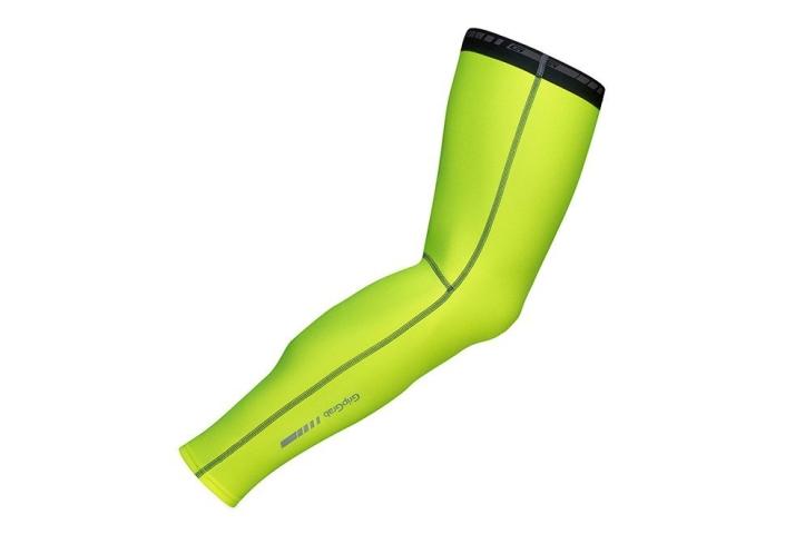 GripGrab Hi-Vis benvarmer i neon 2017 model