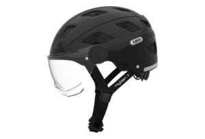 ABUS Hyban+ cykelhjelm, black, klart visir