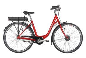 Raleigh Superbe dame elcykel 7 gear i rød - ældre sagen