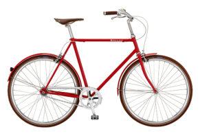 Bike by Gubi klassisk herrecykel I Red Nelson