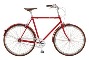 Bike by Gubi klassisk herrecykel I Red Nelson