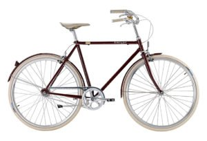 Bike by Gubi klassisk herrecykel I French Bordeaux