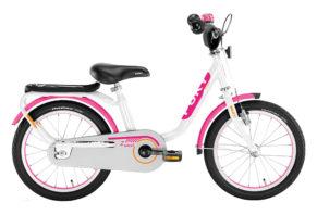 """PUKY Z 6 Edition pigecykel i hvid/pink med 16"""" hjul"""