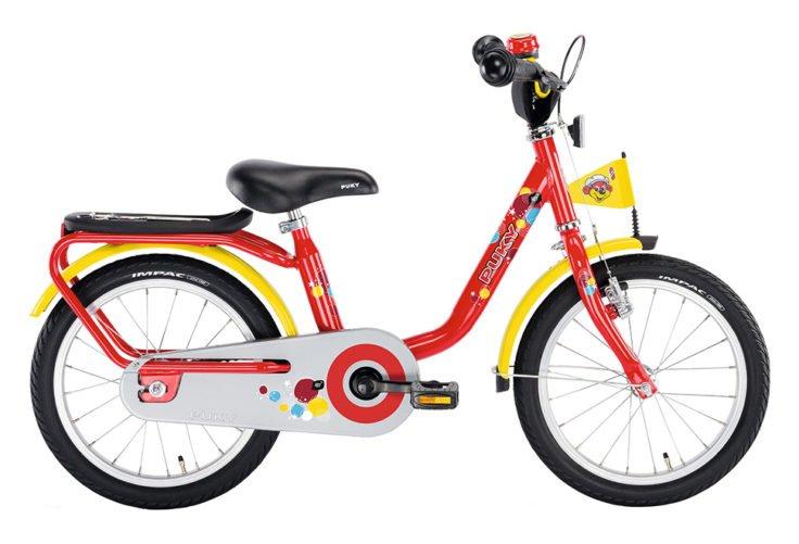 """PUKY Z 6 pigecykel i rød med 16"""" hjul"""