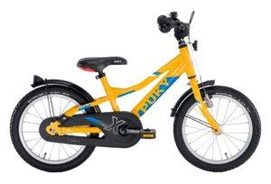 """PUKY ZLX 16 Alu drengecykel i orange med 16"""" hjul"""