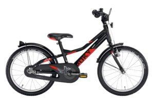 """PUKY ZLX 18 Alu drengecykel i sort med 18"""" hjul"""