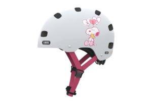 ABUS Scraper Kid 2.0 cykelhjelm, radiserne white heart