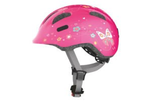 ABUS Smiley 2.0 cykelhjelm, pink butterfly