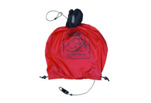 ABUS hjelmopbevaring Helmet Home i rød med lås