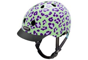 Nutcase Little Nutty Gen3 grape leopard cykelhjelm