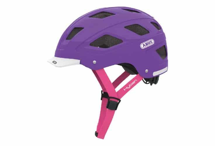 ABUS Hyban cykelhjelm i lilla