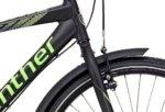Winther 300 Alu Dreng Nexus 7g Fod 26in Mat sort m. neon grøn/grå
