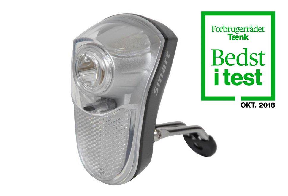 Smart 0,5 Watt LED cykellygte i hvid med batteri - Testvinder