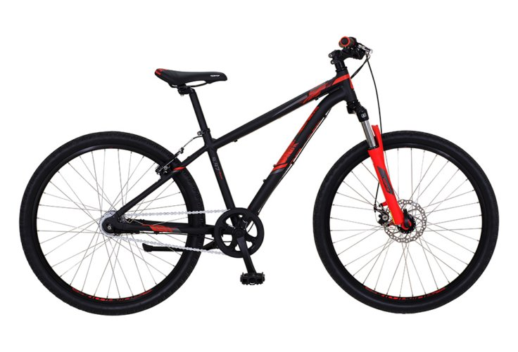 "Kildemoes Intruder MTB 24"" 7 gear 2019 - Soft Black Red"
