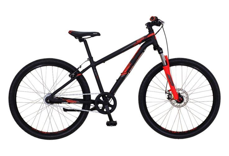 "Kildemoes Intruder MTB 26"" 7 gear 2019 - Soft Black Red"