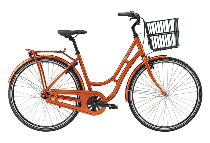 Raleigh Essex Dame Nexus 7g Fod/V-bremse Blank orange m. sølv