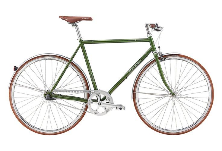 Raleigh Kent Herre Nexus 3g Fod/V-bremse Blank grøn m. mørk grå/sølv
