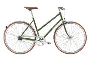 Raleigh Kent Dame Nexus 3g Fod/Kaliber Blank grøn m. mørk grå/sølv
