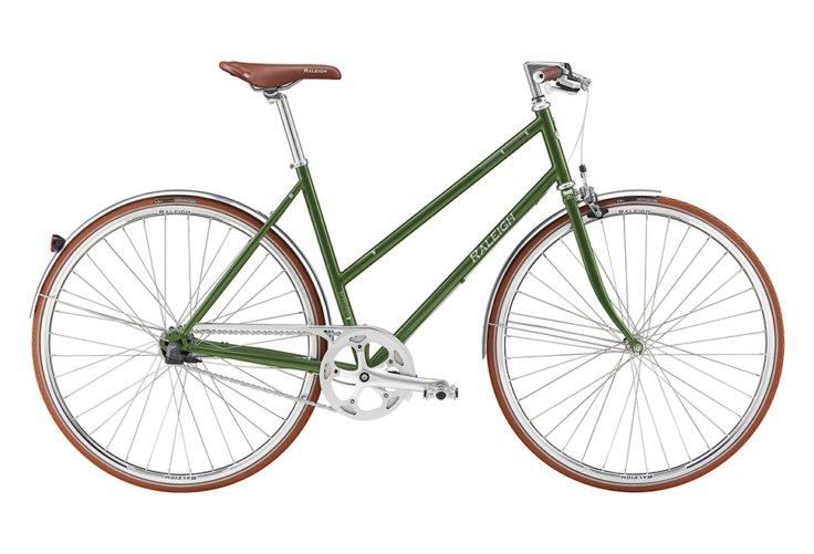 Raleigh Kent Dame Nexus 7g Fod/Kaliber Blank grøn m. mørk grå/sølv