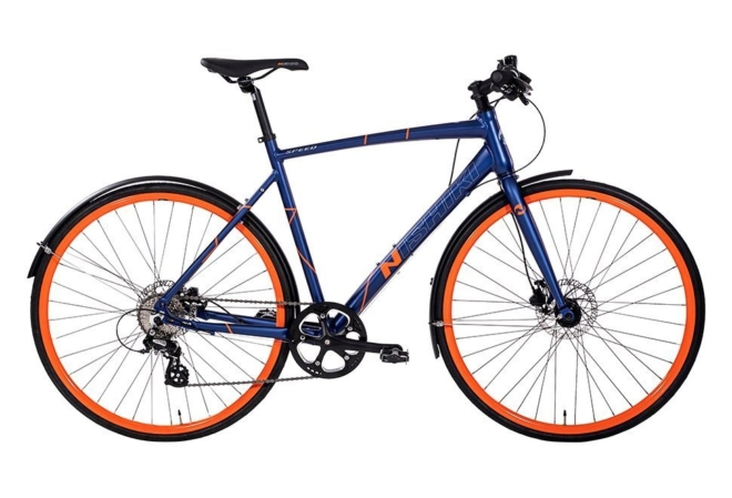 Nishiki Speed Herre 8sp udv. Hydr. disc Mat blå m. orange