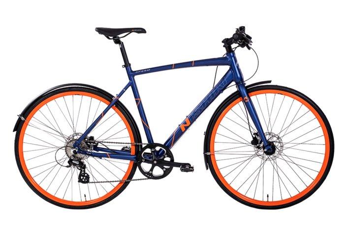 Nishiki Speed Herre 8sp udv. Hydr. disc Mat blå m. orange