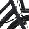 Black Winther Cargo Dame Nexus 7g Fod/V-bremse Sandblæst sort m. sort