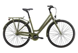 Green Winther 1 Dame Nexus 7g Fod/V-bremse Dyn. forl Mat grøn m. grøn