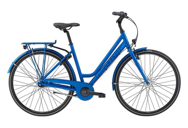 Blue Winther 1 Dame Nexus 7g Fod/V-Bremse Dyn. forl Mat blå m. blank blå