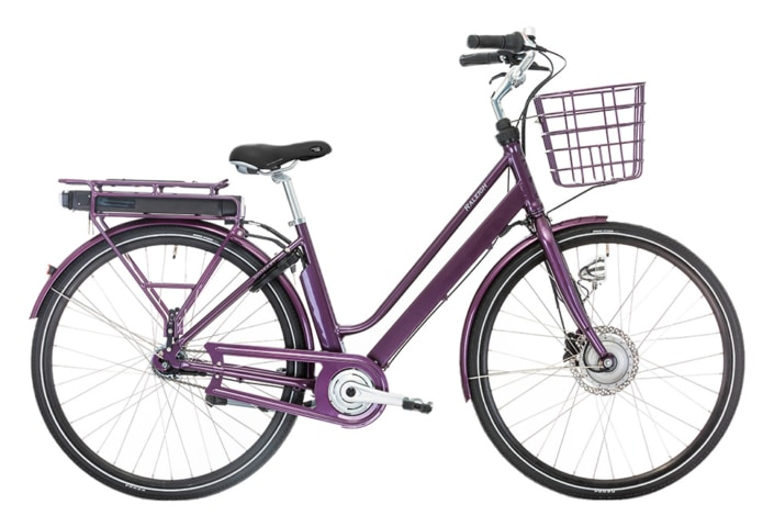 Raleigh Sussex E1 Dame 5 LED-disp. Nexus 7g Fod/Hydr. disc Lilla