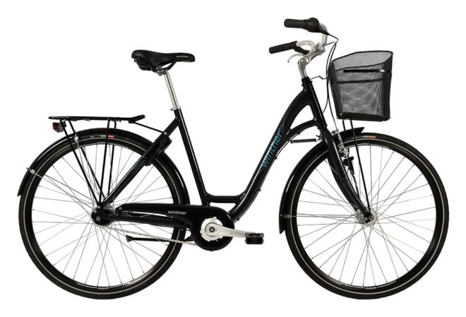 Winther Shopping Alu Dame Nexus 7g Fod/V-Bre Dyn. forl Mørk Grå m.petroleum