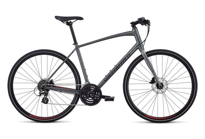 Specialized Sirrus - 2020 - Herrecykel - Charcoal / Candy Red / Black