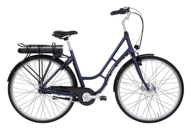 Raleigh Darlington Dame 5 LED-disp. Nexus 7g Fod/V-bremse Mat blå