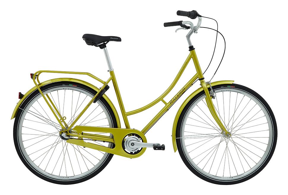 Raleigh Darlington Dame 7 gear blank guld grøn