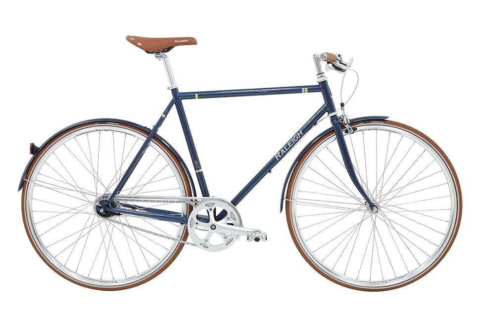 Raleigh Kent Herre 3 gear fodbremse blank petrol/orange zoom