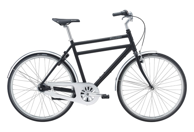 Raleigh Sussex City Herre 7 gear fodbremse mat sort