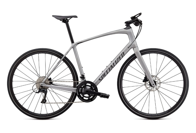Specialized Sirrus 4.0 18 gear - 2020 - Herrecykel - Satin Flake Silver / Charcoal / Black Reflective
