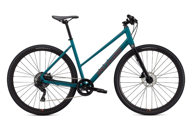 Specialized Sirrus X 2.0 8 gear - 2020 - Damecykel - Dusty Turquoise / Rocket Red / Black Reflective