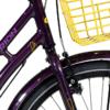 Centurion Basic Urban Pige 24in 7 gear fodbremse mørk lilla/gul inkl. gul kurv