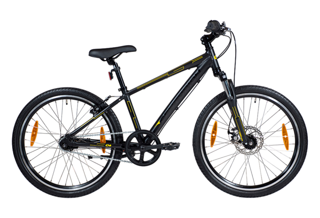 Centurion Basic Outback Dreng 24in 7 gear mørk grå/gul disc. for