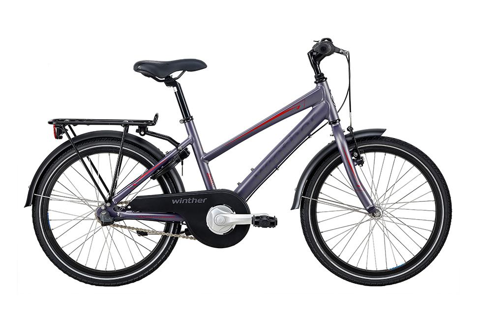 Winther 300 pige 20in 3 gear nexus fod. Mat grå/purple