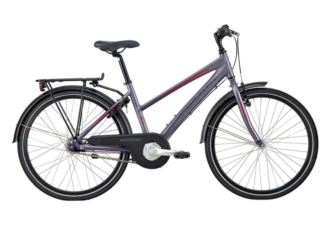 Winther 300 pige 24in 7 gear nexus fod. Mat grå/purple