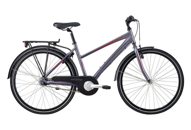 Winther 300 pige 26in 7 gear nexus fod. Mat grå/purple
