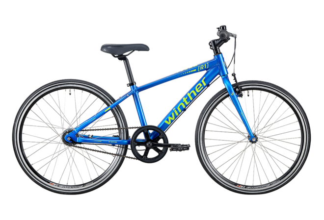 Winther R1 sport Dreng 24in 7 gear mat blå/grøn