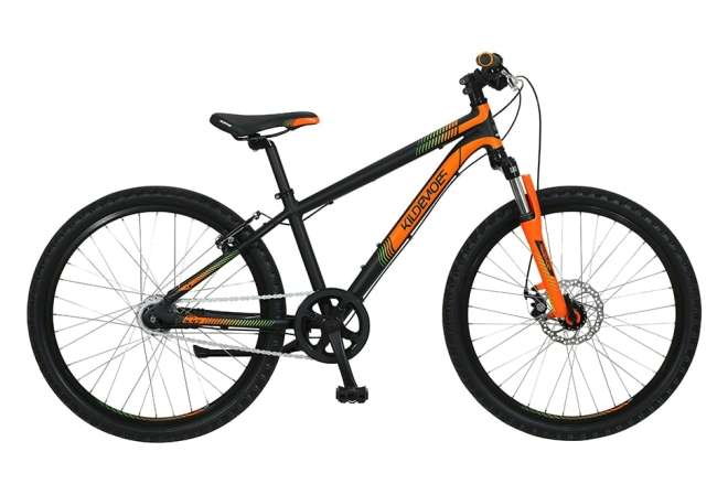 "Kildemoes Intruder MTB 24"" 7 gear - 2020 - Drengecykel I sort/orange"