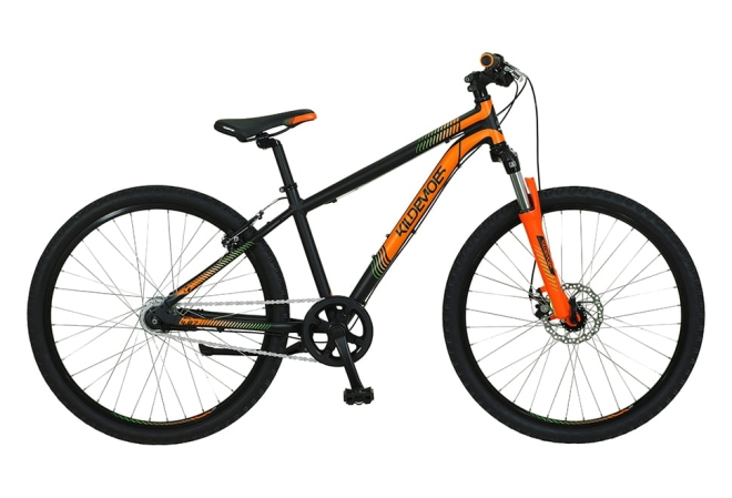 "Kildemoes Intruder MTB 26"" 7 gear - 2020 - Drengecykel I sort/orange"