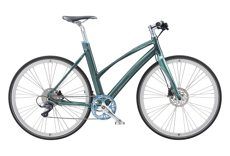 Avenue Airbase Spirit Lady. 8 speed Claris Hydr. Disc. Shiny glossy green