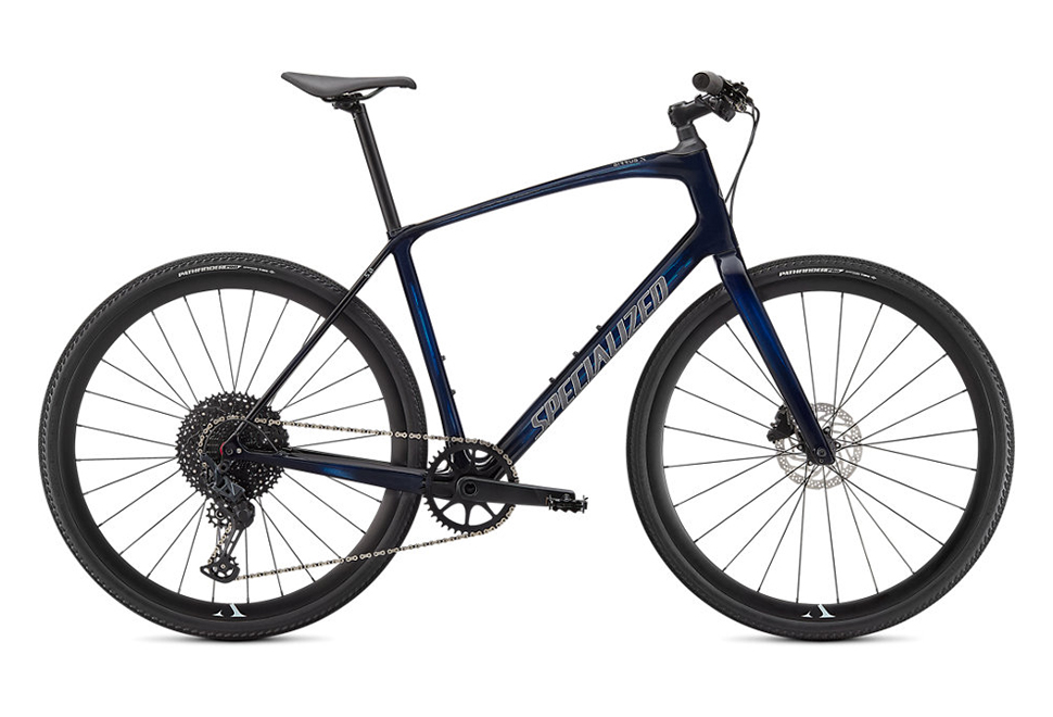 Specialized Sirrus X 5.0 herrecykel i Gloss Blue Tint / Ice Blue / Satin Black Reflective
