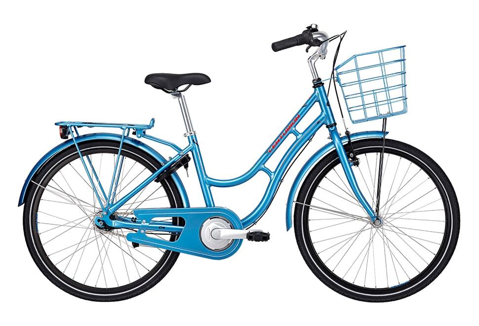 Centurion Basic Urban+ Pige Nexus 7g fodbremse 24in blank blå m. rød inkl. blå kurv