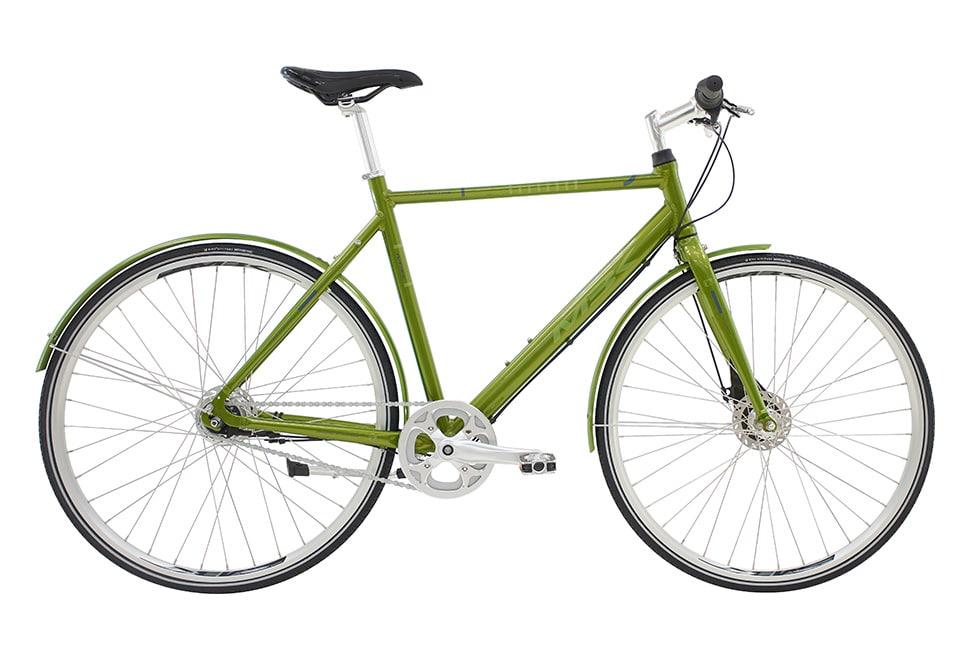 MBK Concept 1One Herre Nexus 7g rullebremser blank grøn m. grøn/grå