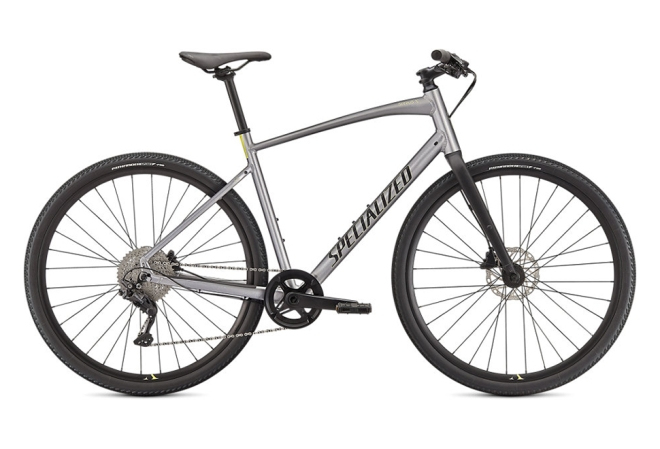 Specialized Sirrus X 3.0 herrecykel i Gloss Flake Silver / Ice Yellow / Satin Black Reflective